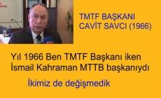 60-68 kuşağının liderlerinden Cavit Savcı'dan İsmail kahraman'a eleştiri