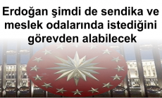 Erdoğan şimdi de sendika ve meslek odalarında istediğini görevden alabilecek