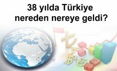 38 yılda Türkiye nereden nereye geldi?