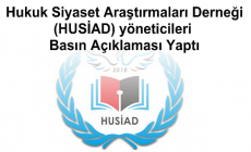 Hukuk Siyaset Araştırmaları Derneği (HUSİAD) yöneticileri Basın Açıklaması Yaptı