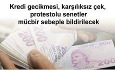 Hazine ve Maliye Bakanlığı: Kredi gecikmesi, karşılıksız çek, protestolu senetler mücbir sebeple bildirilecek ancak bu kredi erişimine engel olmayacak