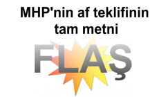 MHP'nin af teklifinin tam metni