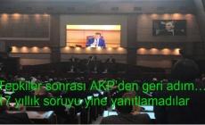 Tepkiler sonrası AKP'den geri adım… 17 yıllık soruyu yine yanıtlamadılar